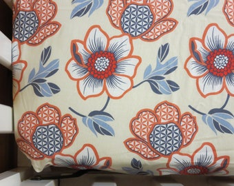Red and White Large Floral - Baby/ Toddler Crib Sheet-Fitted Crib Sheet-Sheets- Bedding-Nursery-