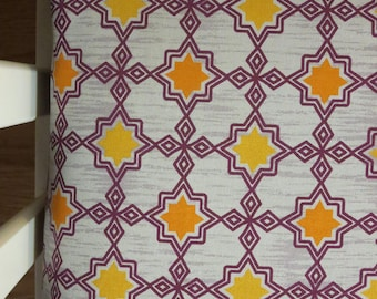 Purple and Gray Geometric Design  -Baby/ Toddler Crib Sheet-Fitted Crib Sheet-Sheets- Bedding-Nursery-