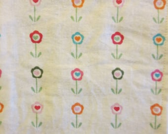 Small Daisy/ Small Flowers-Baby/ Toddler Crib Sheet- Fitted Crib Sheet-Sheets- Bedding-Nursery-