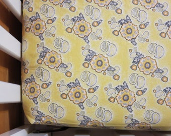 Small Yellow Floral Daisy -Baby/ Toddler Crib Sheet-Fitted Crib Sheet-Sheets- Bedding-Nursery-