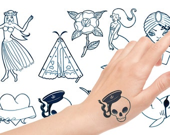 9 Old School Temporary Tattoos