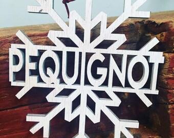 Custom Snowflake Ornament, Christmas Tree Ornament, Gift Tags, Custom