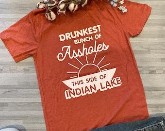 UNISEX - Drinking T-shirt - Lake Life - Indian Lake Gifts - Lake Apparel - Indian Lake Ohio