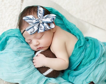 Philadelphia Eagles Baby Girl Boutique bow Elastic Headband f0ffd92529e