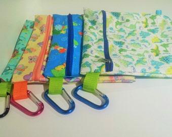 PUL waterproofed wet bags.