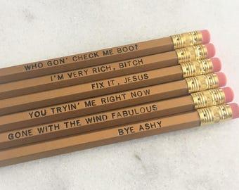 Check Me Boo Pencil Set