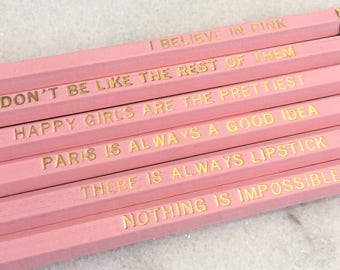 I Believe In Pink Pencil Set