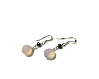 girl friend jewelry sterling silver multi gemstone earrings garnet earrings amethyst earrings wife jewelry idea keshi pearl earrings