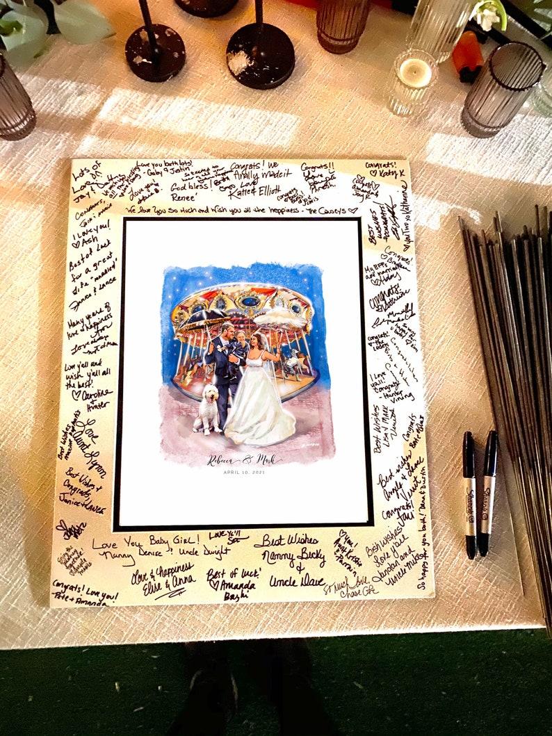 Custom Guestbook Illustration WEdding Guestbook Alternative image 0