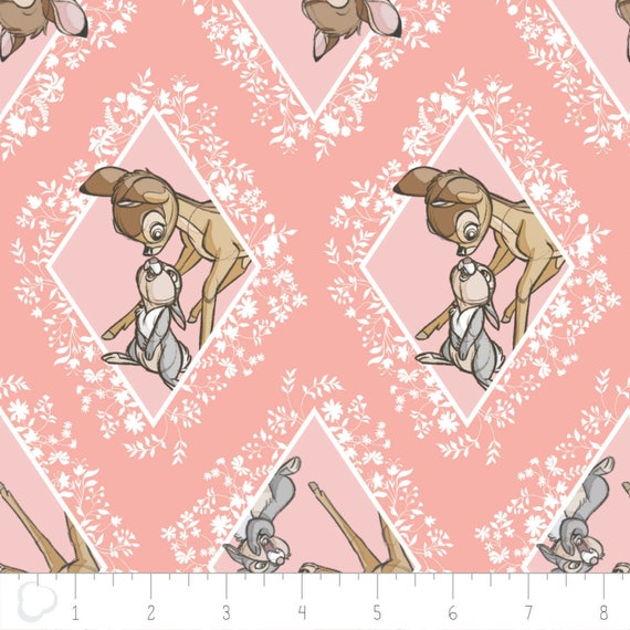 De Color 100Algodónca300 En Bambi Disney Diamantes Premium Camelot Chai Rosa PTkuZiOX