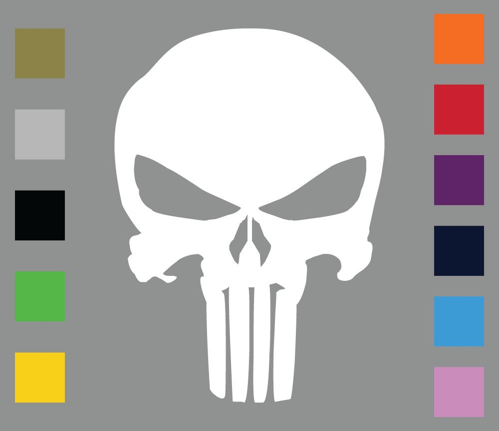The punisher skull vinyl decal sticker car truck van or etsy
