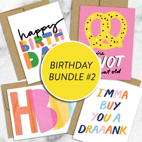 Birthday Bundle 2 4 Pack Of Cards Assorted