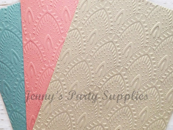 Embossed Cards  Sheet Music  Set of 12  Card Stock  A2 Envelopes  Craft Supplies