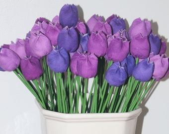 Everlasting Fabric Tulips - Purple Mix