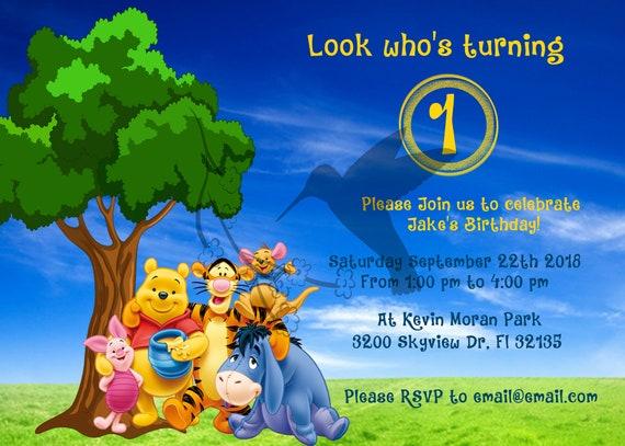 Invitación De Winnie De Pooh