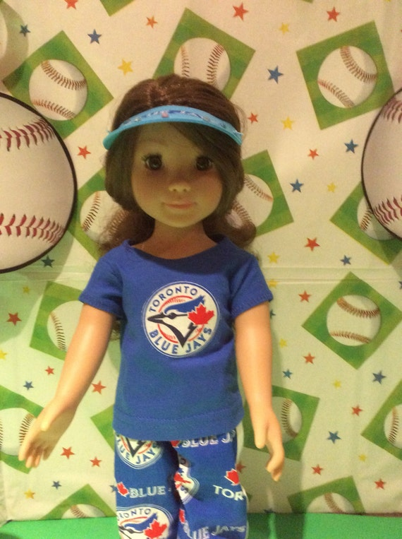 Baseball Sports Sweater Handmade for 18 inch American Girl Doll Made in USA