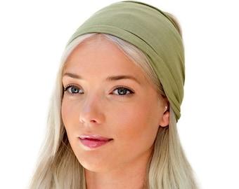 8c414deb9861 ENSO Safari Green Headband for Women. Beautiful Olive Green Head Wrap made  from Finest Organic Cotton. Best Selling Non-Slip Twist Headband.
