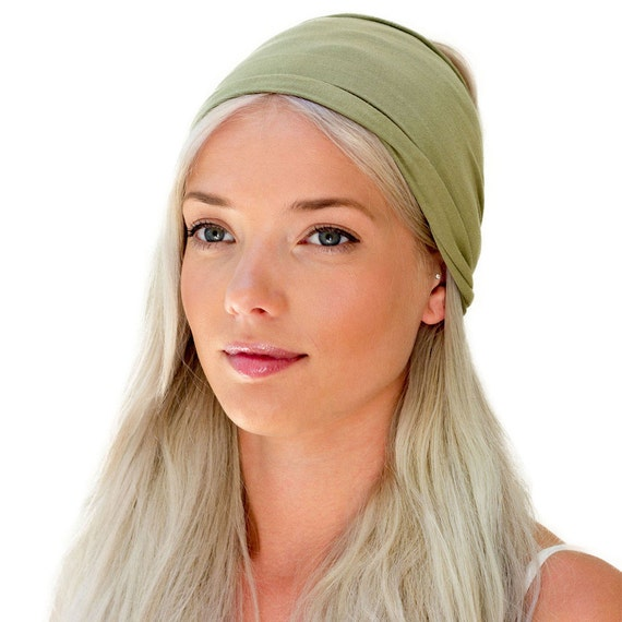 ENSO Safari Green Headband for Women. Beautiful Olive Green  2a13753302