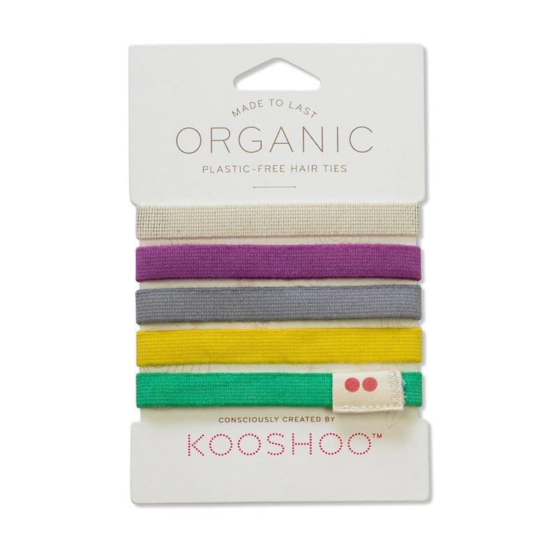 Organic Cotton Plastic-Free Hair Elastics in Colorful  2e977e94943