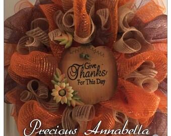 Fall wreath, halloween wreath, deco mesh wreath