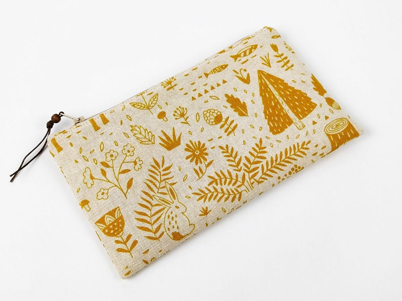 School bag cotton lining pencils makeup products pouch image 0