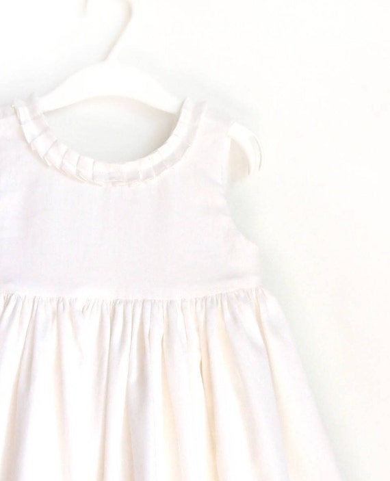 a6a39e1ac74c Christmas Dress Ivory Girl Dress Cotton Girl Dress summer | Etsy