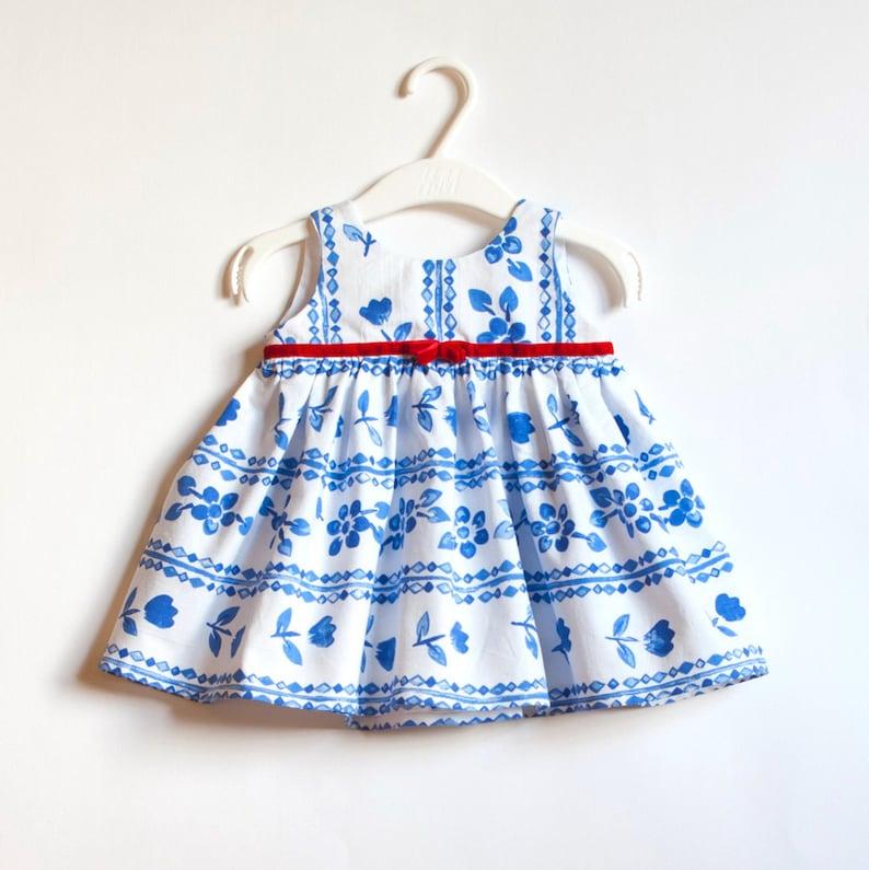 3db7ec6ec0d5 Ragazza di fiore vestito ragazza compleanno Dress cotone