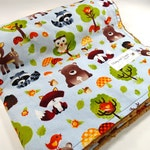 Minky Baby Blanket - Baby Blanket - Minky Blanket - Animals - Baby Boy - Woods, Forest - Baby Shower Gift - Shower Gift - Boy - Nautral