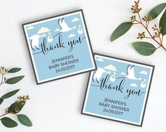 Baby Shower Tags Thank You Labels Favor Tags Printable Favor Tags Shower gift bag tag Printable Thank You Label Thank You Tags Favor Tags S1