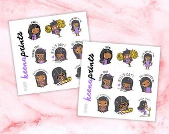 S008 | Keenami A Sampler Stickers Perfect for Erin Condren Life Planner, Filofax, Plum Paper & other planner or scrapbooking
