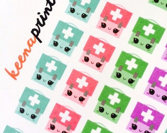 A099 | MEDICAL BAG Stickers - Daily Planner Stickers, Diary Stickers, Journal Stickers, Scrapbook stickers