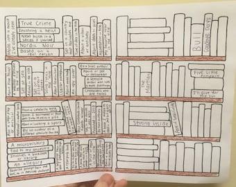 Printable Full Page PopSugar Reading Challenge 2018 Bookshelf Book Tracker