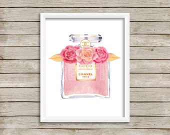 Coco Mademoiselle inspired wall art
