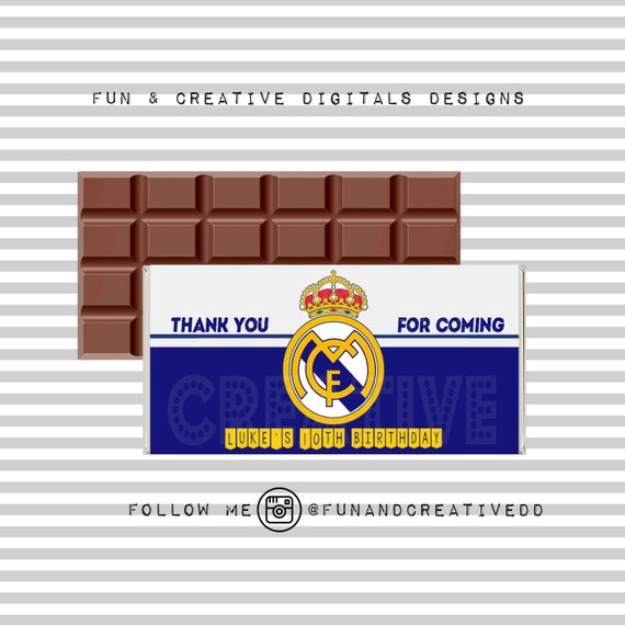 Real Madrid Inspired Chocolate Wrapper