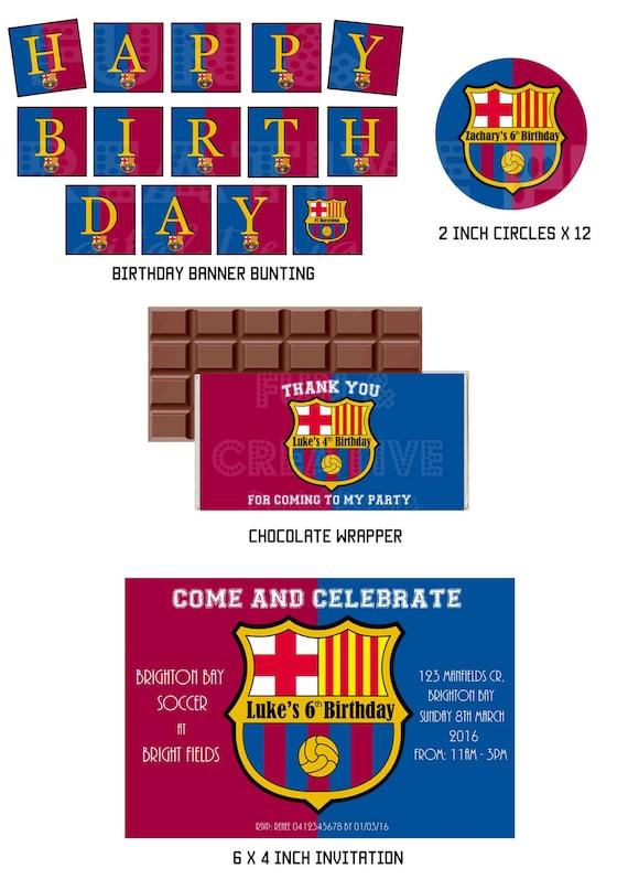 Barcelona Messi Geinspireerd Verjaardag Printables Bundel Etsy