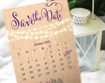 Fairy Lights String of Lights Save the Date Printable Digital