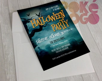 Halloween Invitation, Printable Halloween Costume Party Invitation, Costume Party Invitation, Printable DIY, Digital, Print at Home, Custom