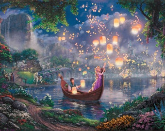 Tangled Lanterns Over Lake Wall Mural Etsy