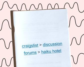 Craigslist Haiku Hotel zine