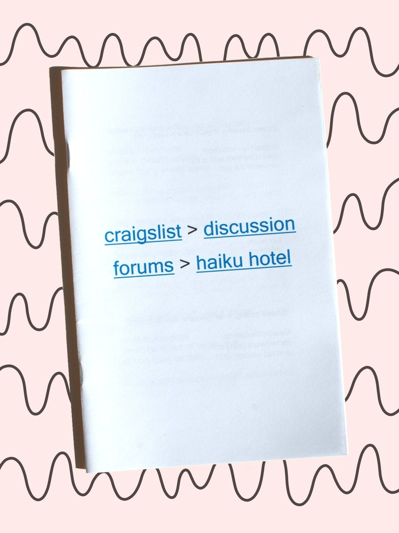 Craigslist Haiku Hotel zine image 0