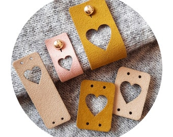 Knitting Clothing Tags Suede Handmade Labels Handmade with Love Tags for Sewing Crochet Knitting Sewing