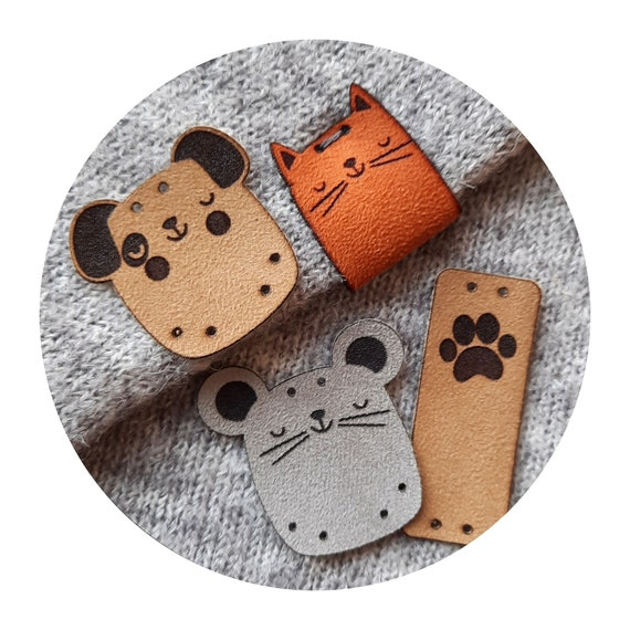 9x tags HOME FRENDS knitting tags. handmade tags. sewing tags. crochet tags. tags for handmade. tags for clothing. dogs cat mouse tags diy