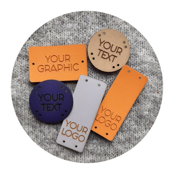 50x PREMIUM PU leather tags - Pvc leather-goods label, labels for handmade items, Knitting PU leather Labels, kniting crochet labels