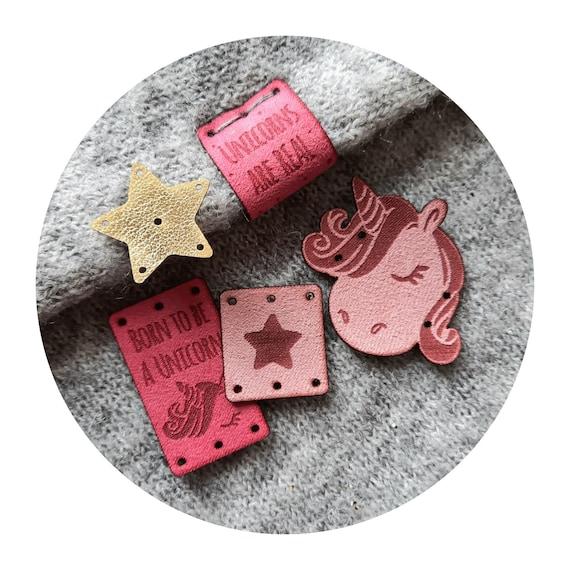 10x tags UNICORNS. knitting tags. handmade tags. sewing tags. crochet tags. tags for handmade. tags for clothing. handmade item tags