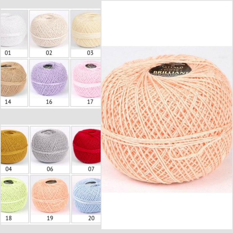 Crochet Thread Size 5 Viscose Yarn For Knitting And Weaving Etsy