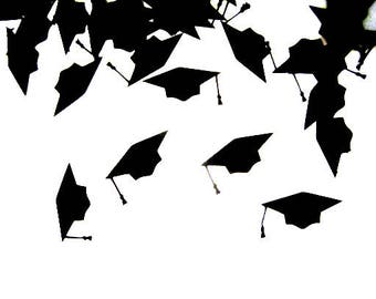 Graduation Confetti, Graduation Party Decorations, Grad Party Decor, Graduation Cap Confetti, Class of 2018 Confetti, High School Graduation