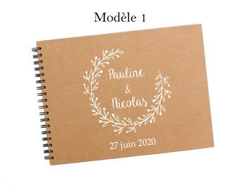 CLEARANCE SALE!!! Personalized A4 wedding guestbook 3 models to choose from
