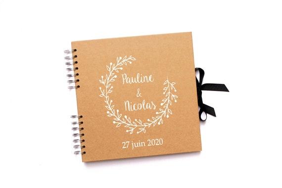 Livre D Or Mariage Personnalise Mariage Boheme Et Champetre Couronne De Feuilles