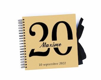 Personalized birthday guestbook, birthday album figure, birthday gift