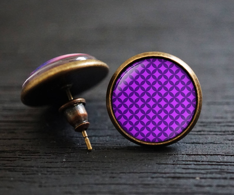 Summer Trend Colors Cuff Links Colorful Cuff Links Texture Cuff Links Purple Cuff Links Vioret Cuff Links